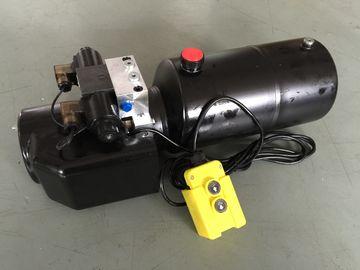 Het Werkdruk 18Mpa van gelijkstroom 12V 1.6KW met Ronde Mini de Hydraulische Machtspakken van de Staaltank voor vork-Liften