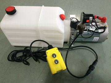 De Motor van gelijkstroom 12V de Horizontale Enige Pakken van de Acteren Mini Hydraulische Macht voor Stortplaatsaanhangwagen